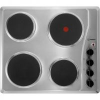 Indesit TI60X 58cm Solid Plate Hob - Stainless Steel