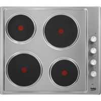 Beko HIZE64101X 58cm Solid Plate Hob - Stainless Steel