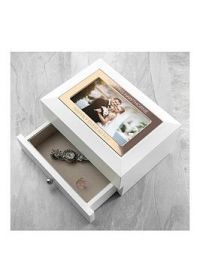 Personalised White And Rose Gold Photo Jewellery Chest With Drawer