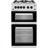 Beko KDG582S Gas Cooker with Full Width Gas Grill - Silver - A+ Rated