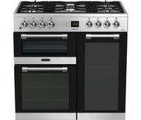 LEISURE CK90F530X 90 cm Dual Fuel Range Cooker - Stainless Steel & Chrome