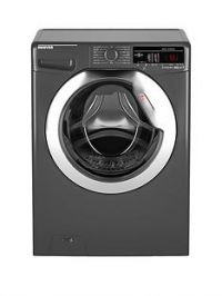 Hoover Dynamic NextDXOA48C3R 8kgLoad, 1400 spin Washing Machine with One Touch - Graphite/Chrome