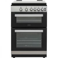 Belling FSG608Dc 60cm Gas Cooker with Full Width Electric Grill - Silver - A+/A Rated