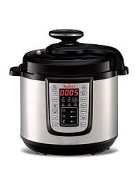 Tefal All-in-One Electric Pressure Cooker with hinged lid-Stainless Steel andBlack