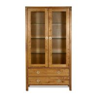 Balmoral Honey 2 Door 2 Drawer Display Cabinet