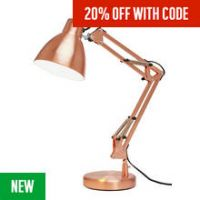 Argos Home Task Table Lamp - Copper
