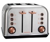 MORPHY RICHARDS Accents 242105 4-Slice Toaster - Brushed Stainless Steel & Rose Gold
