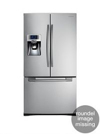 Samsung RFG23UERS1/XEU French Door Side By Side Fridge Freezer with Twin Cooling Plus and 5 Year Samsung Parts and Labour Warranty - Silver