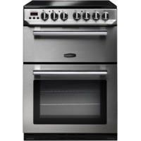 Rangemaster 10730 Professional+ 60cm Double Oven Electric Cooker With Ceramic Hob - Stainless Steel And Chrome