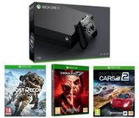 MICROSOFT Xbox One X, Tom Clancy's Ghost Recon Breakpoint, Tekken 7 & Project Cars 2 Bundle - Black