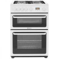 Hotpoint HAG60P Gas Cooker with Variable Gas Grill - Polar White