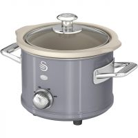 Swan Retro SF17011GRN 1.5 Litre Slow Cooker - Grey