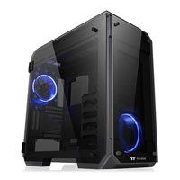Thermaltake View 71 Full Tower Computer Chassis, w/ 4x Tempered Glass Windows, EATX/ATX/mATX/mITX, 2x140mm Blue LED Fans