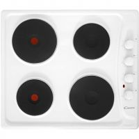 Candy PLE64W 58cm Solid Plate Hob - White