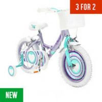 Pedal Pals 14 Inch Violet Hearts Bike and Accessories Set