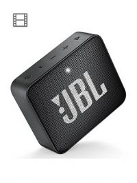 JBL GO 2 Wireless Bluetooth Speaker with IPX7 Water-Resistant Rating, 5 Hours Playtime and Call Handling - Black