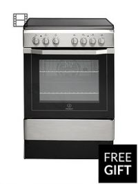 Indesit I6VV2AX 60cm Electric Cooker with Ceramic Hob - Stainless Steel