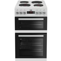 Beko KDV555AW 50 cm Double Oven Electric Cooker - White