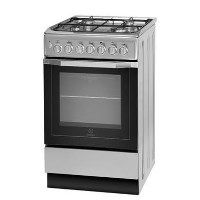 Indesit I5GSH1S 50cm Dual Fuel Single Oven Cooker Silver