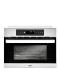Belling Bel Bi45Comw 45Cm Built-In Single Electric Oven And Microwave - Stainless Steel