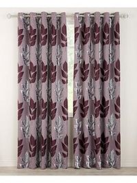 Blakely Jacquard Eyelet Curtains 65X90