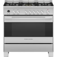 Fisher & Paykel Designer OR90SDG6X1 90cm Dual Fuel Range Cooker - Stainless Steel - A Rated