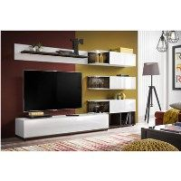 White High Gloss Entertainment Unit - TVs up to 60