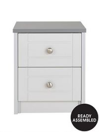 Alderley Ready Assembled 2-Drawer Bedside Cabinet