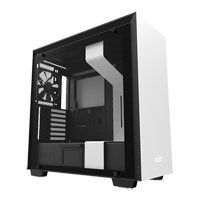 NZXT H700, White/Black, Mid Tower Computer Chassis, Tempered Glass Window, E-ATX/ATX/mATX/mITX, 3x 120mm Fans, 140mm Fan