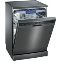 Siemens SN258B00ME Super Efficient 14 Place Full Size Dishwasher With varioDrawer - Black Steel