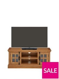 Ideal Home Whitford Solid Wood Ready Assembled TV Unit- fits up to 55 inch TV
