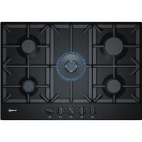 Neff T27DS59S0 N70 75cm Five Burner Gas Hob Black With Cast Iron Pan Stands