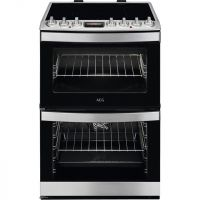 AEG CIB6740ACM Electric Cooker with Induction Hob - Stainless Steel - A/A Rated