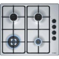 Bosch PBH6B5B80 Serie 2 58cm Four Burner Gas Hob in Stainless Steel