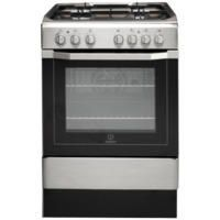 Indesit I6G52X 60cm Wide Single Oven Dual Fuel Cooker - Stainless Steel