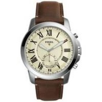 Fossil Q Grant Leather Strap Hybrid Smart Watch