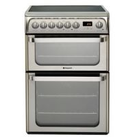 Hotpoint HUE61XS 60cm ULTIMA Electric Cooker in St Steel Double Oven