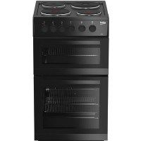 Beko KD533AK 50 cm Twin Cavity Electric Cooker - Black