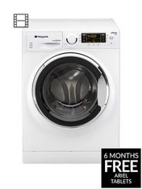 Hotpoint Ultima S-Line RPD10657JX 10kg Load, 1600 Spin Washing Machine A+++ Energy Rating - White/Chrome
