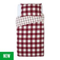 Argos Home Forest Hideaway Brushed Check - Single
