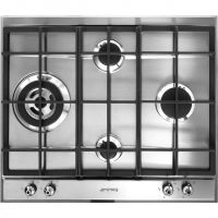 Smeg Classic P361XGH 60cm Gas Hob - Stainless Steel