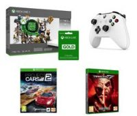 MICROSOFT Xbox One X, Project Cars 2, Tekken 7, Wireless Controller, Game Pass & Xbox LIVE Gold x 2 Bundle