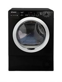 Candy Grand O VitaGVSH9A2DCEB 9kg Load,HeatPump, Sensor Tumble Dryer with Smart Touch - Black/Chrome