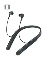 Sony WI-1000X Wireless In-Ear Noise Cancelling High Resolution Headphones with Activity Recognition and 10 Hours Battery Life - Black