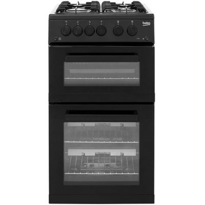 Beko KDG582K Gas Cooker with Full Width Gas Grill - Black - A+ Rated Best Price, Cheapest Prices