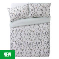 Argos Home Outline Floral Printed Bedding Set - Double Best Price, Cheapest Prices