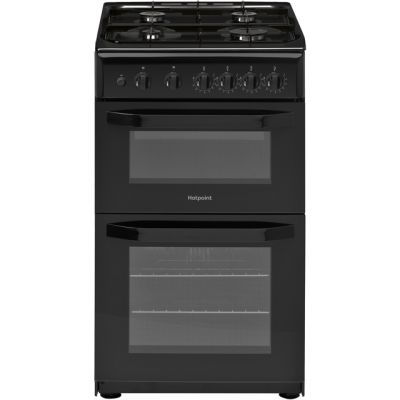 Hotpoint Cloe HD5G00KCB Gas Cooker with Full Width Gas Grill - Black - A Rated Best Price, Cheapest Prices