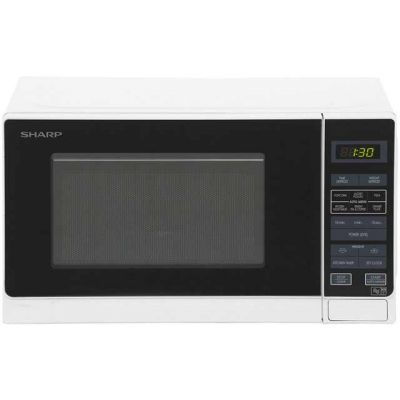 Sharp R272WM 20 Litre Microwave - White Best Price, Cheapest Prices