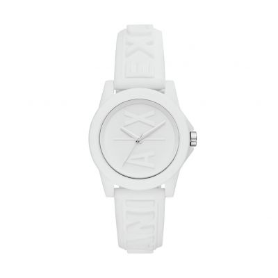 Armani Exchange Ladies White Silicone Strap Watch Best Price, Cheapest Prices