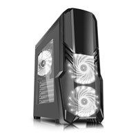 CiT G Force Black Mid Tower Computer Chassis, with Side Window, ATX/mATX/m-ITX, 3x 120mm RGB Fans, HD Audio, 3x USB Best Price, Cheapest Prices